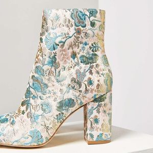 Floral Multi-Color Bootie